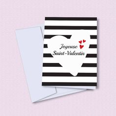 Carte Saint-Valentin imprimable, printable Valentine's day card, carte de voeux Joyeuse Saint-Valentin à imprimer Creations, Playing Cards, Valentines, Etsy, Happy Valentines Day, Greeting Card, Day Care, Printable, King