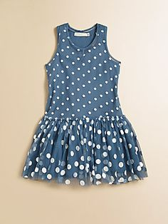 Stella McCartney Kids Toddlers & Little Girls Bell Dotted Tulle Dress