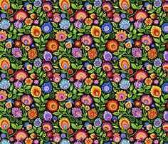 Wildflowers on Black-large fabric by groovity on Spoonflower - custom fabric Arts And Crafts, Diy Crafts, Craft Projects, House Projects, Spoonflower Fabric, Black Media, Wildflowers, Pattern Art, Fabric Patterns