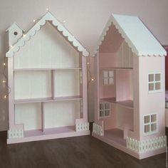 Купить или заказать Кукольный домик стеллаж в интернет магазине на Ярмарке Мастеров. С доставкой по России и СНГ. Материалы: мдф, акриловые краски. Размер: 120х80х30