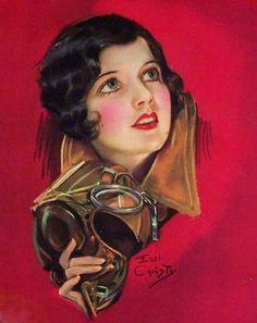 Aviatrix by Earl Christy. Vintage Images, Vintage Posters, Vintage Art, Vintage Illustration Art, Art Illustrations, Rolf Armstrong, Art For Art Sake, Pin Up Art, Up Girl