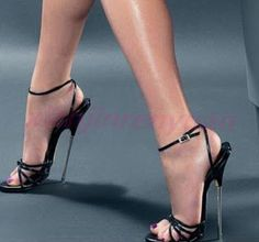 Party Fashion New Womens Ankle Strap Metal High Heel Sandals Open Toe Shoes in Clothing, Shoes & Accessories, Women's Shoes, Heels Super High Heels, Platform High Heels, Black High Heels, High Heels Stilettos, Stiletto Heels, Extreme High Heels, Open Toe High Heels, Open Toe Shoes, High Heel Boots