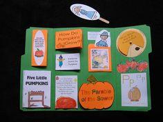 Pumpkin Lapbook - this would be cute for oct/nov lapbooks. do a bible book w/a fall theme Five Little Pumpkins, Learning Place, Kindergarten Books, Teacher Hacks, Teacher Stuff, Mini Books, Lap Books, Book Letters, Student Teaching
