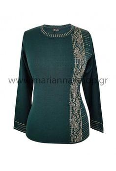 Μπλούζα πλεκτή πράσινη Jumpers, Knitwear, Sweaters, Shopping, Fashion, Moda, Tricot, Fashion Styles, Jumper