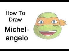 ▶ How to Draw Michelangelo from Teenage Mutant Ninja Turtles - YouTube