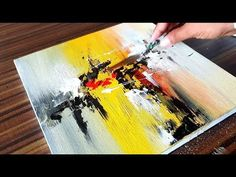 Acrylic Abstract Painting / Easy Demonstration / Project 365 days / Day Y Abstract Painting Easy, Simple Acrylic Paintings, Art Paintings, Contemporary Abstract Art, Watercolor Artists, Abstract Photography, Art Techniques, Art Tutorials, Art Lessons