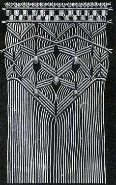 The Textile Blog: Macrame Decorative Work