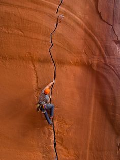 #patagonia: Sean Collon enjoying Rocktober on #Anunaki in Indian Creek, UT. #rockclimbing #climbing #utah