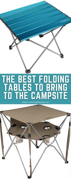 We have the 8 best folding camping tables for your next camping trip. There are a variety of styles available to you when you're shopping for camping tables. All of them are foldable for maximum portability. #foldingtables #campingequipment #campinghacks #campingtables Camping Table, Camping List, Camping Chairs, Camping Gear, Campsite, Best Travel Gadgets, Camping Gadgets, First Time Camping, Camping For Beginners