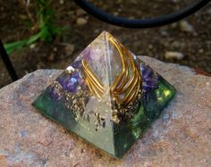 Etheric Realms Orgone Energy Pyramid Small by TwoChez on Etsy, $29.00