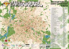 map of urban gardens in Berlin