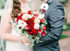 bride looking at groom while holding red and white bouquet 14 Fall Inspired Wedding Bouquets Orange Blossom Bride | Orlando Wedding Blog #orlandoweddingflorist Bridal Bouquet Fall, Wedding Bouquets, Wedding Flowers, Autumn Inspiration, Wedding Inspiration, Orlando Wedding, Bride Look, Orange Blossom, Wedding Blog