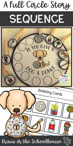If You Give a Dog a Donut by Laura Numeroff is a great book to help students practice sequencing. This full circle story provides students with opportunities to retell a story in the correct order. Retelling Activities, Childcare Activities, Library Activities, Preschool Literacy, Preschool Books, Early Literacy, Kindergarten Reading, Writing Activities, Cognitive Activities
