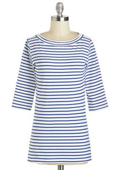 Lines Around the Block Top in Nautical, #ModCloth