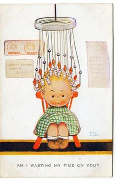 MABEL LUCIE ATTWELL postcard - yep, the permanent ordeal.