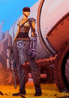 BROTHERTEDD.COM - gary-vanaka:   Furiosa fan Art. From Mad Max Fury... Mad Max Fury Road, Character Concept, Character Design, Character Art, Imperator Furiosa, Badass Movie, Hulk Art, Post Apocalypse, Cultura Pop