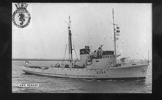 HMRT Reward, the sixth of the Bustler class Rescue tugs to be built by Henry Robb Shipyard, Leith. Launched 31/10/44. Charteed out to United Towing in '62 she was renamed MV Englishman. After a year she was takedn back into service by RFA & renamed RFA Reward, based in Portsmouth. In '75 taken back by RN converted for oil rig protection & renamed HMS Reward. In August '76 on a foggy night she collided with German container ship Plainsman in Firth of Forth, sank in 15 minutes without loss of…