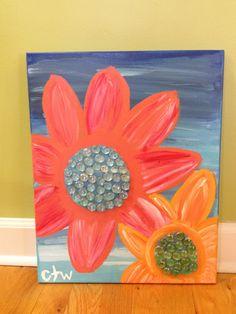Canvas Painting. $99.00, via Etsy.
