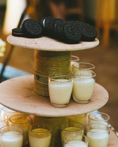 Late night Oreo & milk shot bar | SouthBound Bride | http://www.southboundbride.com/love-birds-wedding-at-cheerio-gardens-by-hello-rademan-zelda-richard | Credit: Hello Rademan