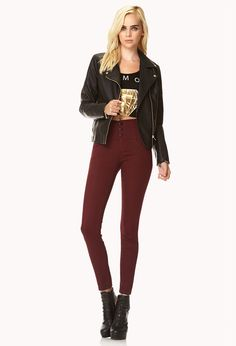 Daring High-Waisted Skinny Jeans