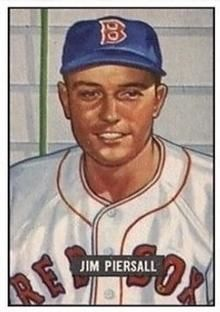 1951 Bowman 306 Jim Piersall Front