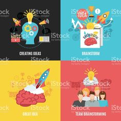 Set Of Brainstorm Compositions royalty-free stock vector art Brainstorm, Free Vector Art, Composition, Royalty, Presents, Create, Illustration, Image, Graphics