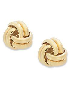 Giani Bernini 24k Gold Over Sterling Silver Earrings, Double-Knot Stud Earrings - Earrings - Jewelry & Watches - Macy's