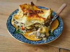 Get Bacon and Mushroom Lasagna Recipe from Food Network Giada De Laurentiis, Giada Recipes, Cooking Recipes, Grilling Recipes, Sauce Recipes, Pasta Recipes, Yummy Recipes, Dinner Recipes, Bacon