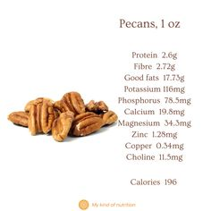 Nuts and seeds are very healthy, despite their calories. Eat a handful of nuts and seeds for a nutritious, satiating snack that won't spike your blood sugar levels. Eat unsalted, raw or lightly roasted nuts for best results. #pecans #pecans nutrition #nutsandseeds #healthysnack #superfood #lowcalorie #nuts Can I Eat, Roasted Nuts, Holistic Nutritionist, Unprocessed Food, Plant Based Protein, Good Fats, Base Foods, Pecans