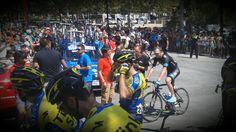 Chris Froome, Team Sky. Esperando la salida de la etapa de la Vuelta a España 2014 entre Benalmadena (Málaga) y La Zubia (Granada)