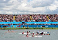 A general view during the Men's Kayak Double (K2) 1000m Canoe Sprint semifinal on Day 10 of the London 2012 Olympic Games at Eton Dorney on Aug. 6, 2012.    Credit: Harry How/Getty Images