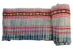 Embroidered Batik Linen, 10 Yds
