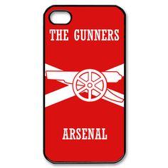 arsenal fc iPhone 4 or 4S Hard Plastic Black case cover 04139    $16.99   The Gunners soccer at Gejobak Bonanza
