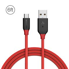 BlitzWolf Ampcore BW-MC5 2.4A Micro USB Braided Data Cable 6ft/1.8m for Samsung S7 Redmi Note 4  Ampcore cables are almost unbreakable built with Military grade Kevlar fibers enough to tow a 1.5T car and can be twisted and bent over 5000 times.It is the most durable charging cable in the world. Specification: Brand: BlitzWolf Model: Ampcore BW-MC5 Plug: Standard USB 2.0 A Male to Micro USB Male Nickel-plated Connector Heads Materials:Double Color Injection Molding  TPE Cover & Polyester…