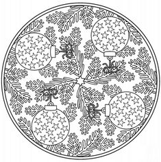 Mandala color page. Miscellaneous coloring pages. Coloring pages for kids. Thousands of free printable coloring pages for kids! Adult Coloring Pages, Mandala Coloring Pages, Free Printable Coloring Pages, Colouring Pages, Coloring Sheets, Coloring Books, Free Christmas Coloring Pages, Christmas Mandala, Theme Noel