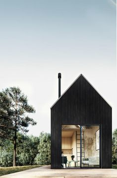 Your very own modern tiny house weekend getaway. The Walden 144 features soaring ceilings, lofted living space, a wood stove, alcove kitchen, and shower room. The post Your very own modern tiny house weekend getaway. T… appeared first on Pinova. Modern Wood House, Modern Tiny House, Best Tiny House, Modern House Plans, Small House Plans, Tiny House Cabin, Modern Loft, A Frame Cabin, A Frame House