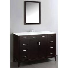 Oxford Dark Espresso Brown 48-inch Bathroom Vanity - Overstock™ Shopping - Great Deals on WyndenHall Bathroom Vanities