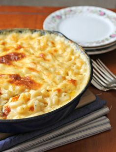 Make baked macaroni and cheese for your next family dinner. Mac & cheese is not the same without browned and bubbly cheese on top.