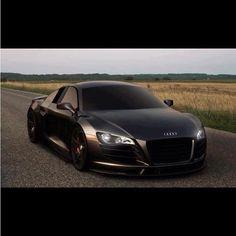Matte Black Audi R8. Favorite car ever.