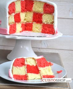 Gâteau damier Checkerboard Cake
