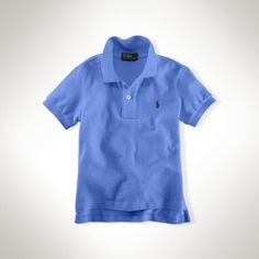Polo by Ralph Lauren - Classic Cotton Mesh SS Polo Shirt - Scottsdale Blue - $35.00 - size:  4T/4