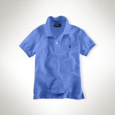 Polo by Ralph Lauren - Classic Cotton Mesh SS Polo Shirt - Scottsdale Blue - $35.00 - size:  4T/4