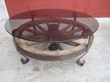 Red and black coffee table