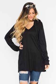 Knit hoodie cover up- black!