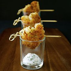 Panko Crusted Shrimp with a Chive Aioli