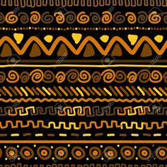 Vector Seamless Background With African Design Elements Royalty Free Cliparts, Vectors, And Stock Il African Textiles, African Fabric, African Prints, Image Joker, Afrique Art, Zentangle, Tiger Skin, Ethnic Patterns, African Patterns