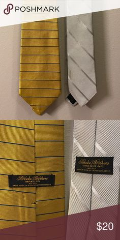 Pair of Brooks Brothers ties Both ties in excellent condition! Brooks Brothers Accessories Ties