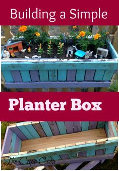 Build a simple planter box using scrap lumber! Gardening For Beginners, Gardening Tips, Planter Boxes, Planters, Backyard Farming, Wild Edibles, Natural Garden, Grow Your Own Food, Growing Herbs