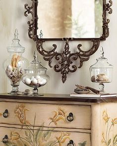 Beautiful Mirror, Perfect With Hand-Painted Chest Of Drawers