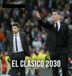 Lionel Messi i Cristiano Ronaldo in El Clasico 2030 #football #messi #ronaldo #lionelmessi #cristianoronaldo #soccer #sports #pilkanozna